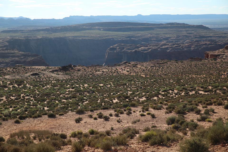 Horseshoe Bend Hike Road in Glen Canyon