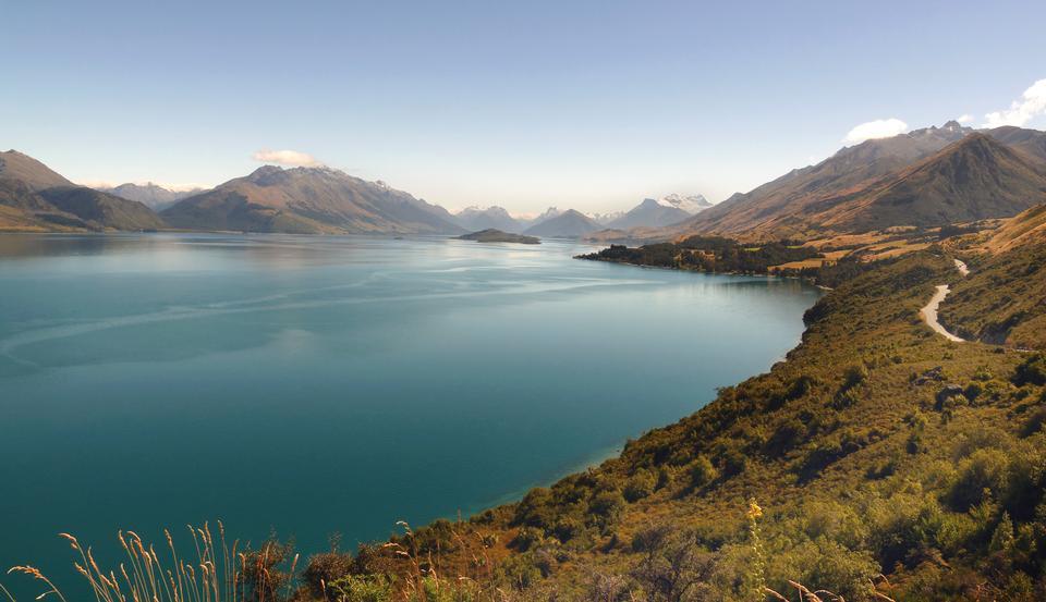 ワカティプ湖、クイーンズタウン、オタゴ、ニュージーランド