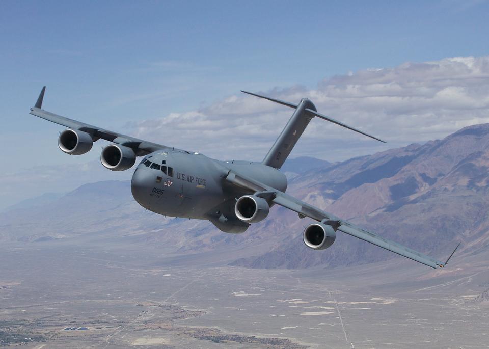 A U.S. Air Force C-17 Globemaster II