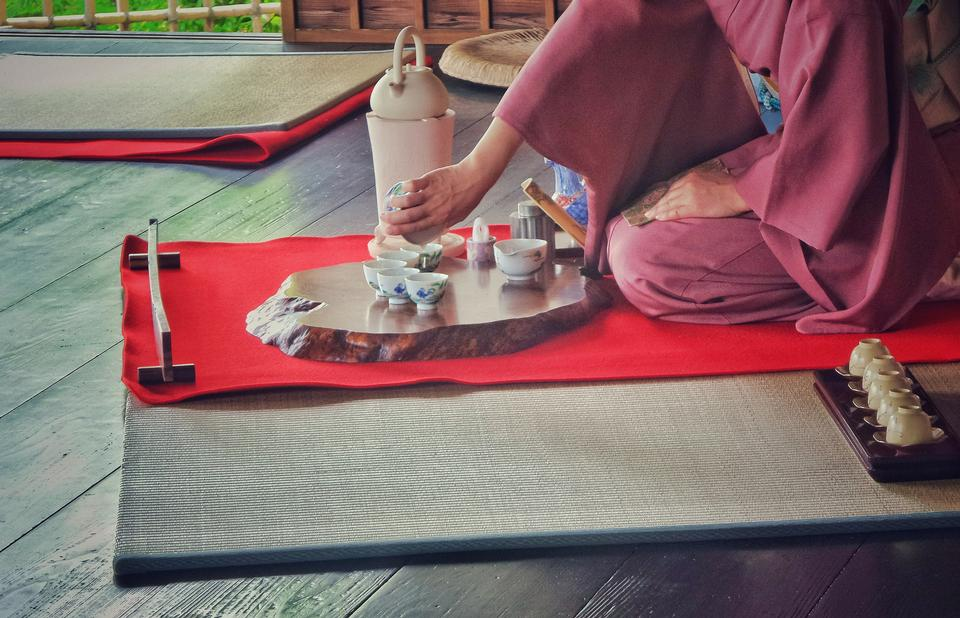 Traditional tea ceremony in Japan