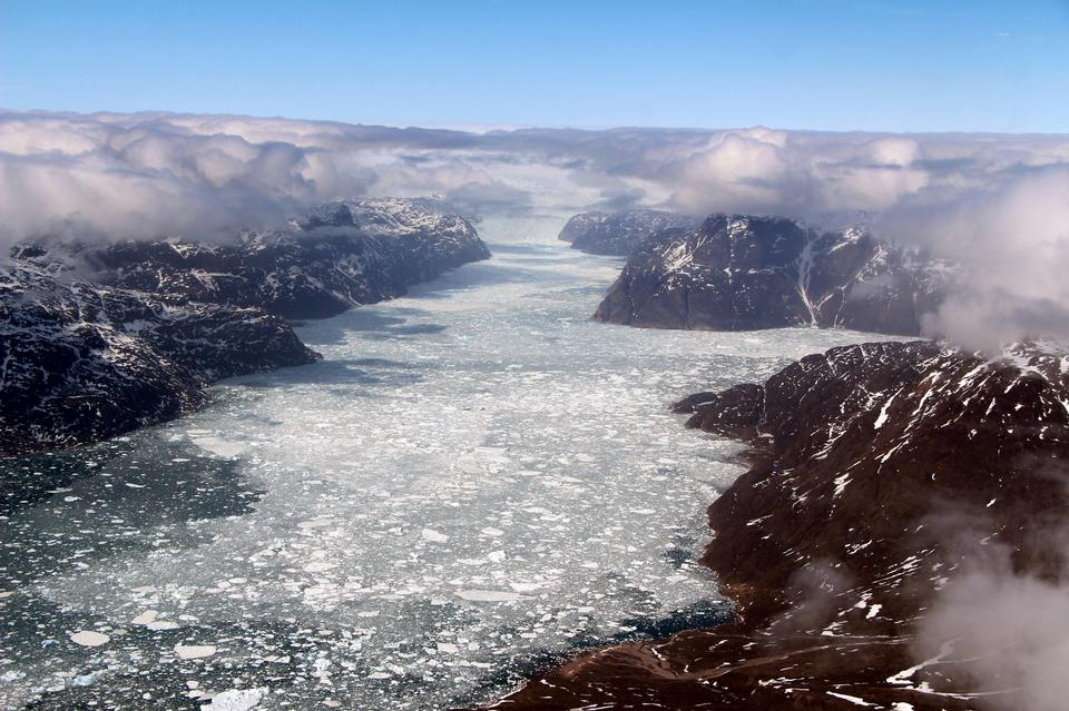 A fjord in southern Greenland
