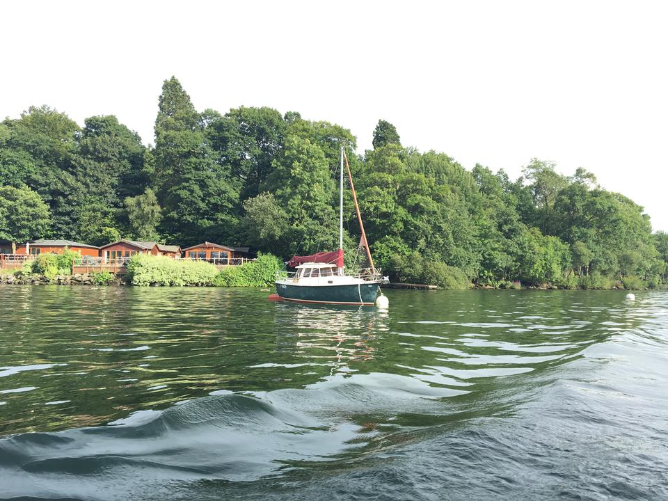 Boat floating the Lake District