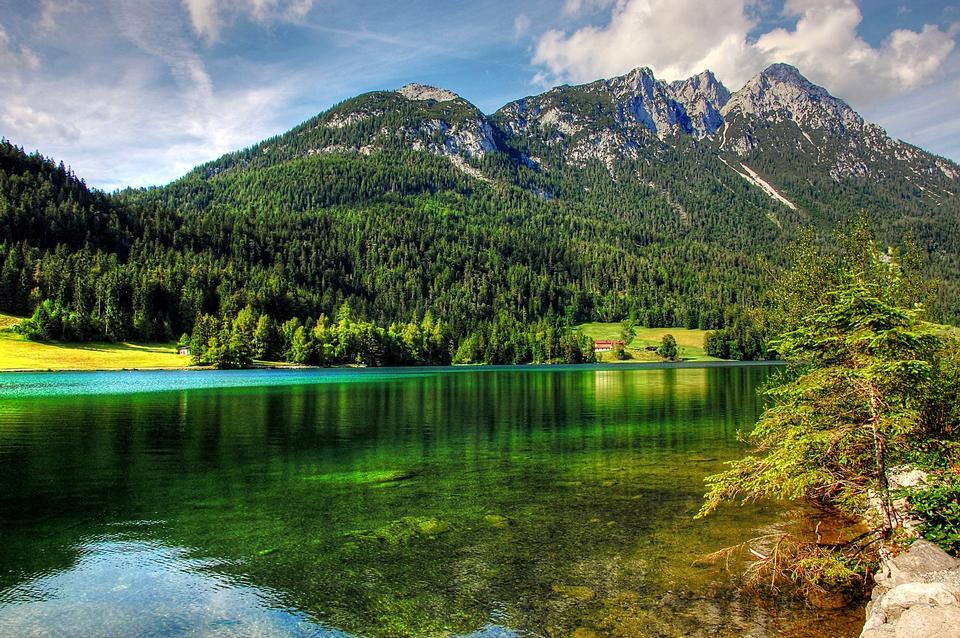 Hintersteiner Lake, Tyrol, Austria.