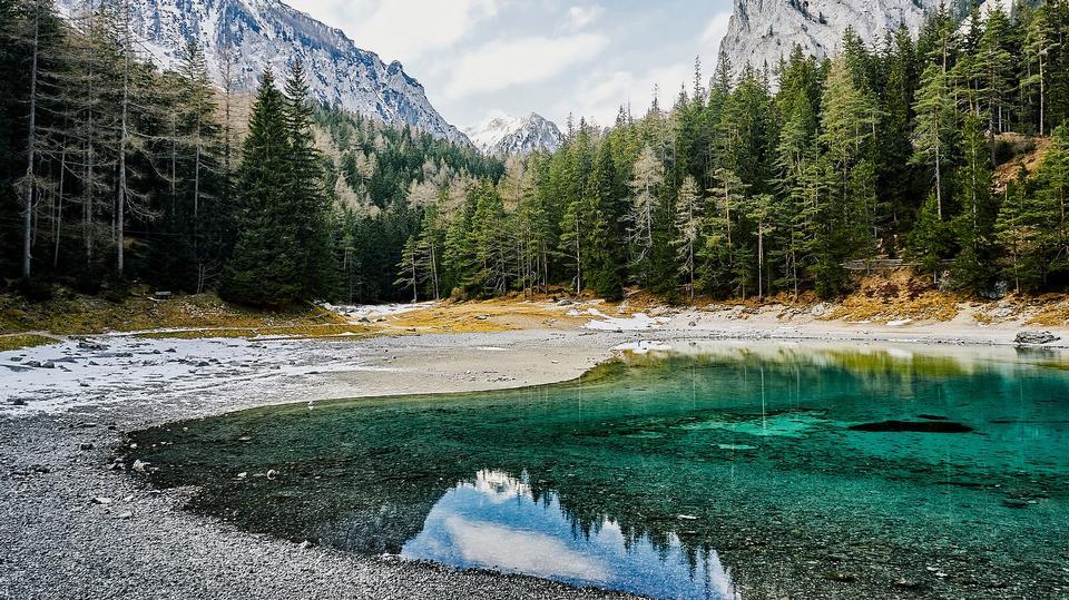 Springtime at Haldensee in Tannheimertal in Tirol, Austria