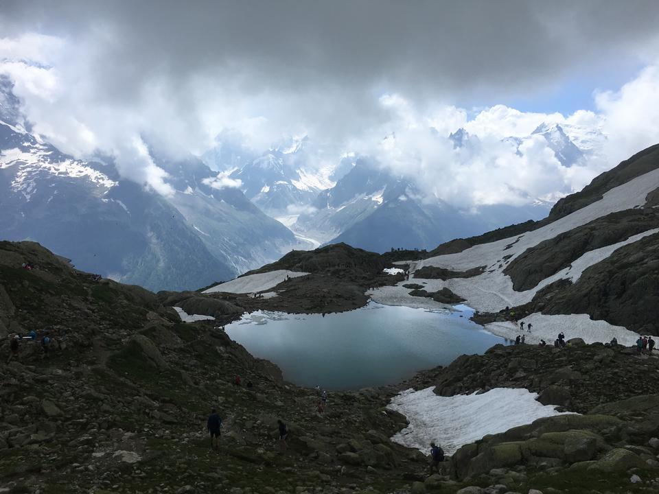 Монблан отражается в озере Чесеры, Монблан, Альпы