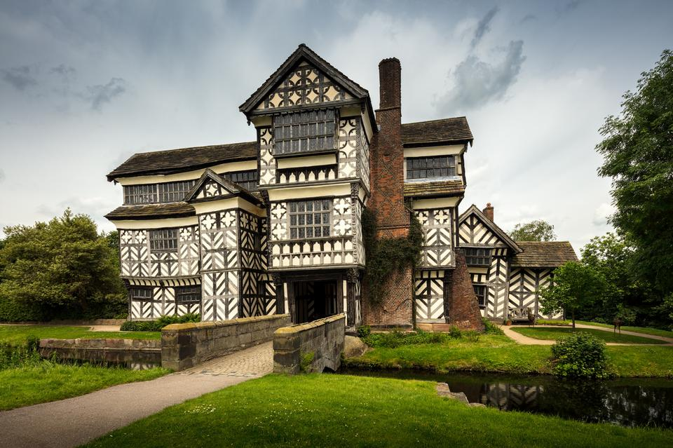 Little Moreton Hall in Cheshire, England