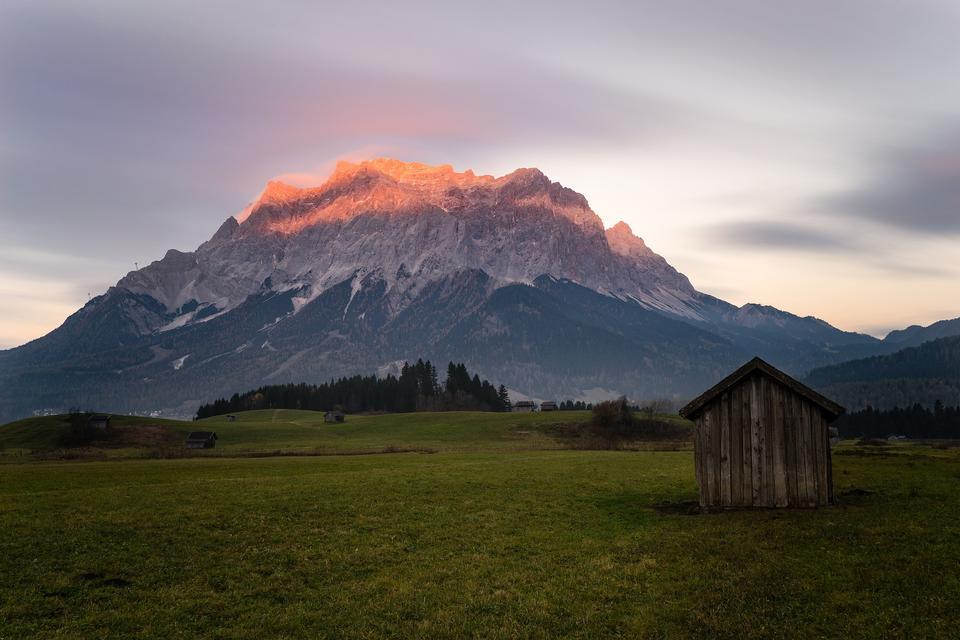 Ehrwald, Tirol, montaña de Zugspitze, Alpes, Austria
