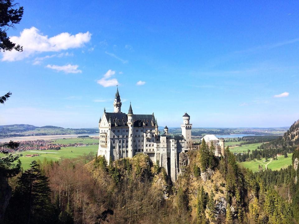 Famous Neuschwanstein Castle in Bavaria, Germany
