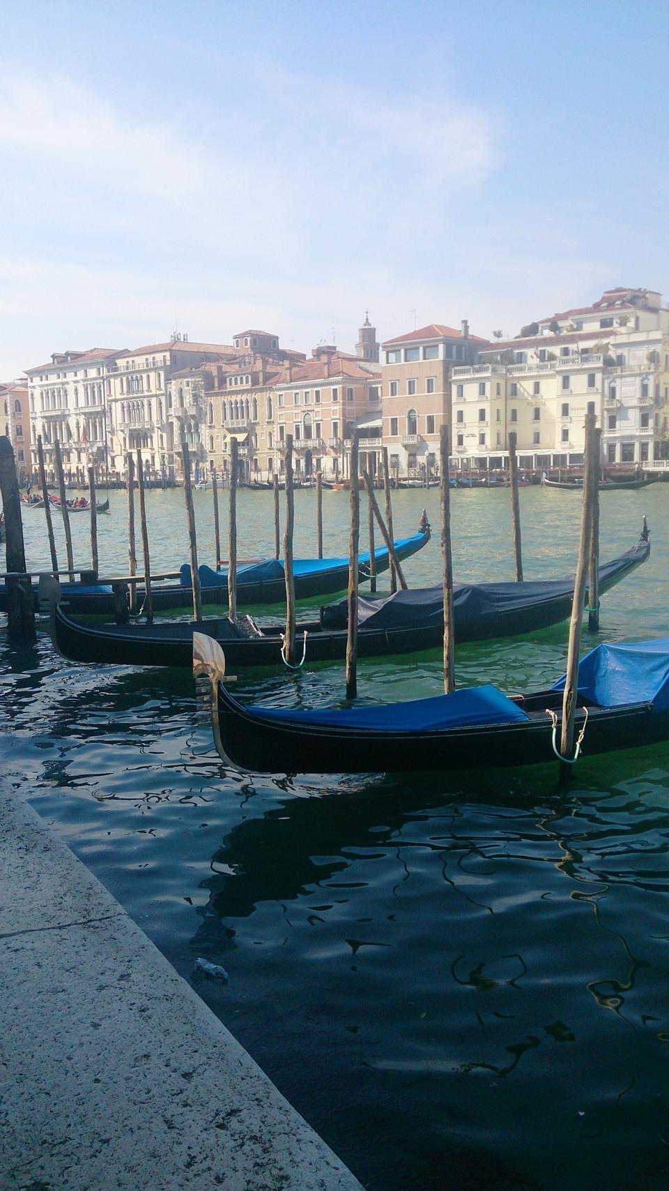 Grand Canal, Venise, bateau, gondole