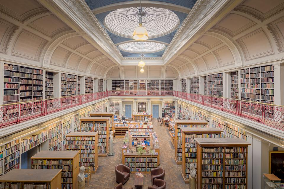 Library in Newcastle, England, UK