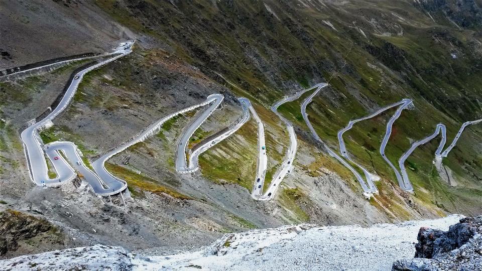 Passo dello Stelvio - Stelvio pass in Italy, Ortler Alps