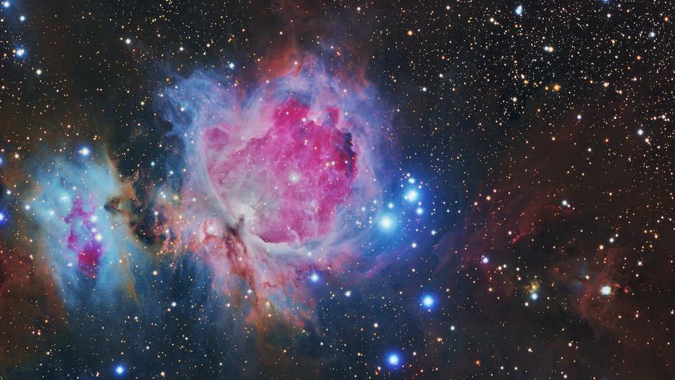 The Great Orion nebula in the constellation Orion