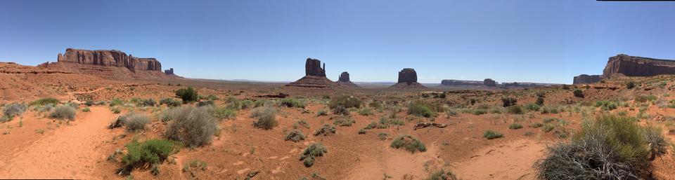 Panoramic view of the beautiful landscape of Sedona in Arizona