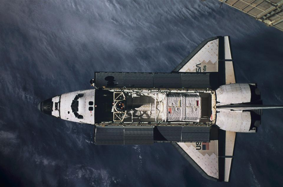 The approach of the STS-79 orbiter Atlantis