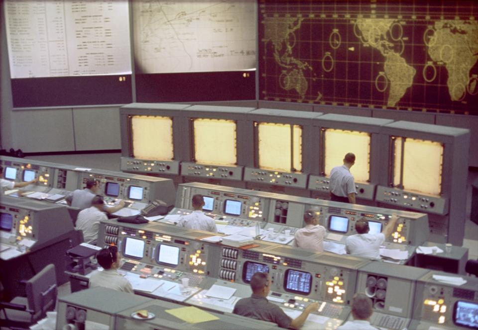 Overall view of the Mission Control Center