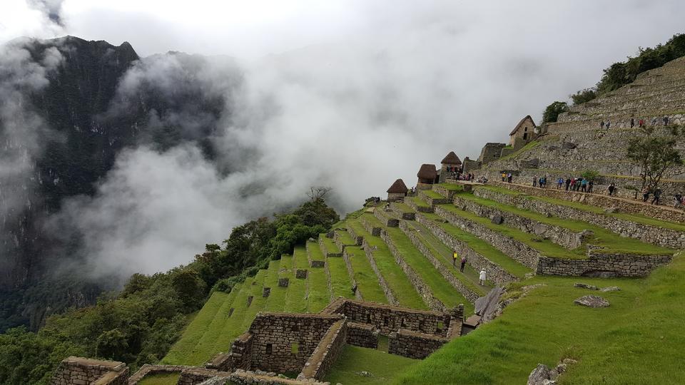 マチュピチュペルー、サウスアメリカ、ユネスコ世界遺産