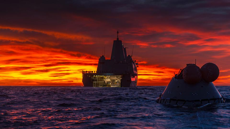 Test Orion Capsule in the Pacific Ocean