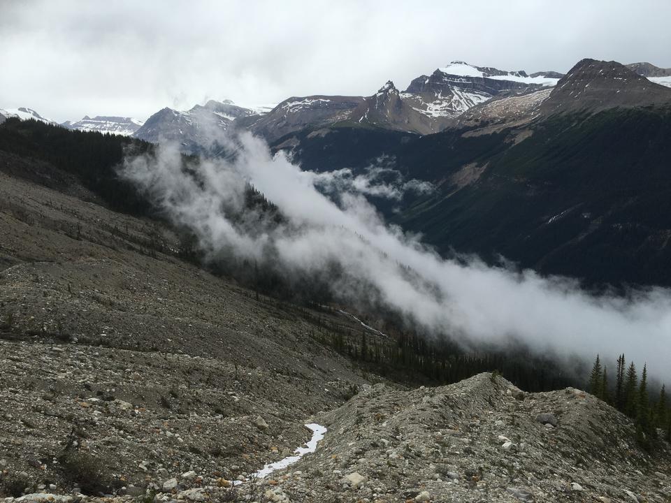 Yoho国家公园,加拿大落基山脉的Iceline足迹