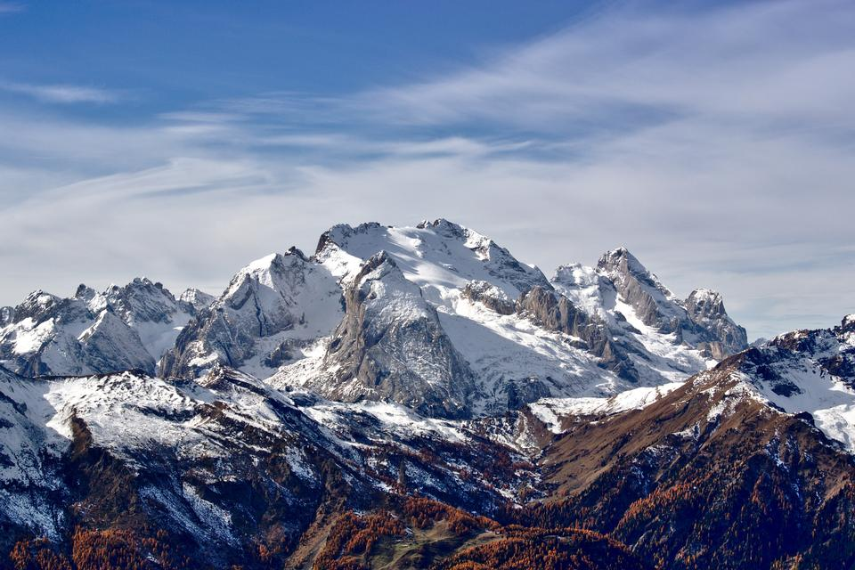 Marmolada is a mountain in northeastern Italy