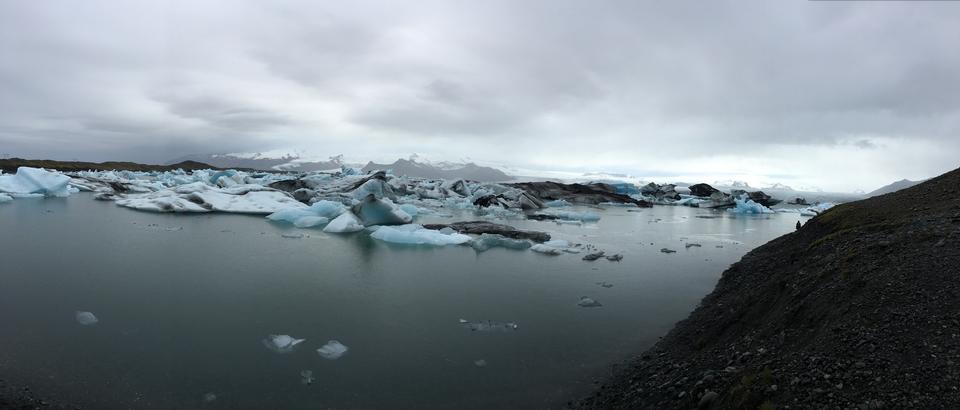 Laguna del ghiacciaio di Jokulsarlon, Islanda