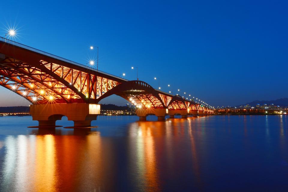 Han River en Seúl Corea