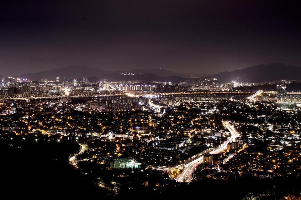 nightscape in Seoul Korea