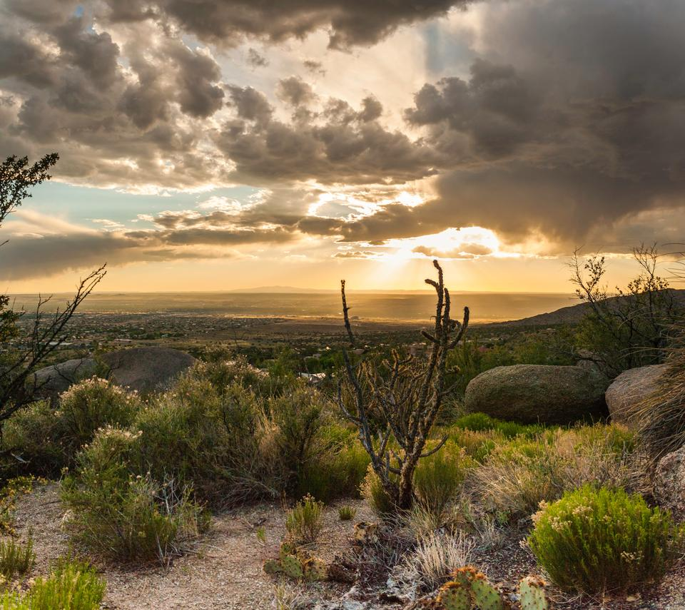 ニューメキシコ州アルバカーキ日没