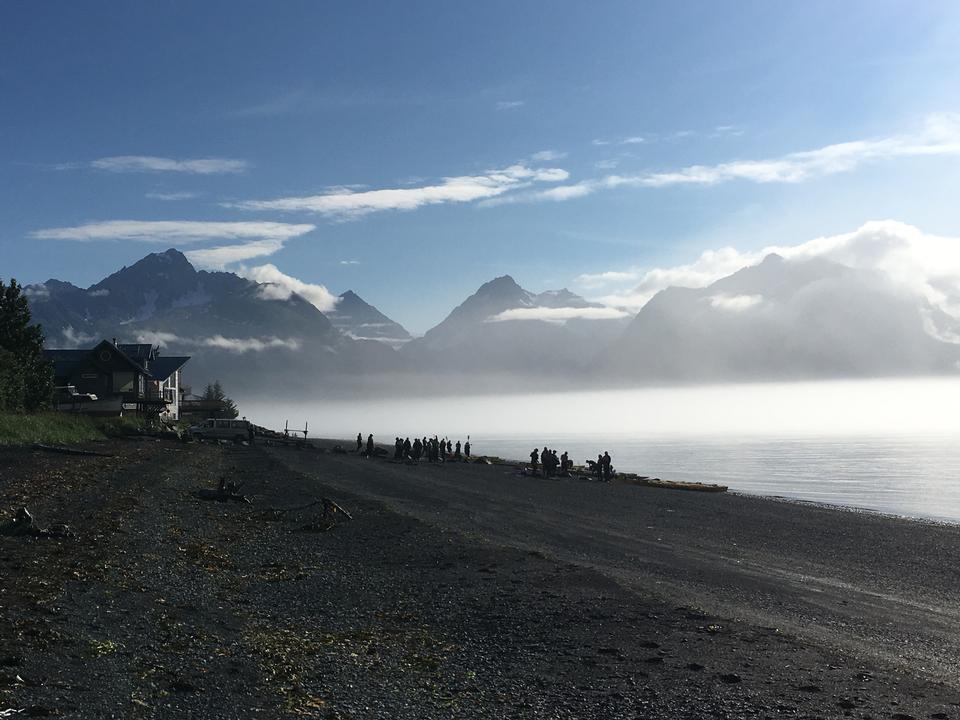 Mirador del glaciar Mendenhall