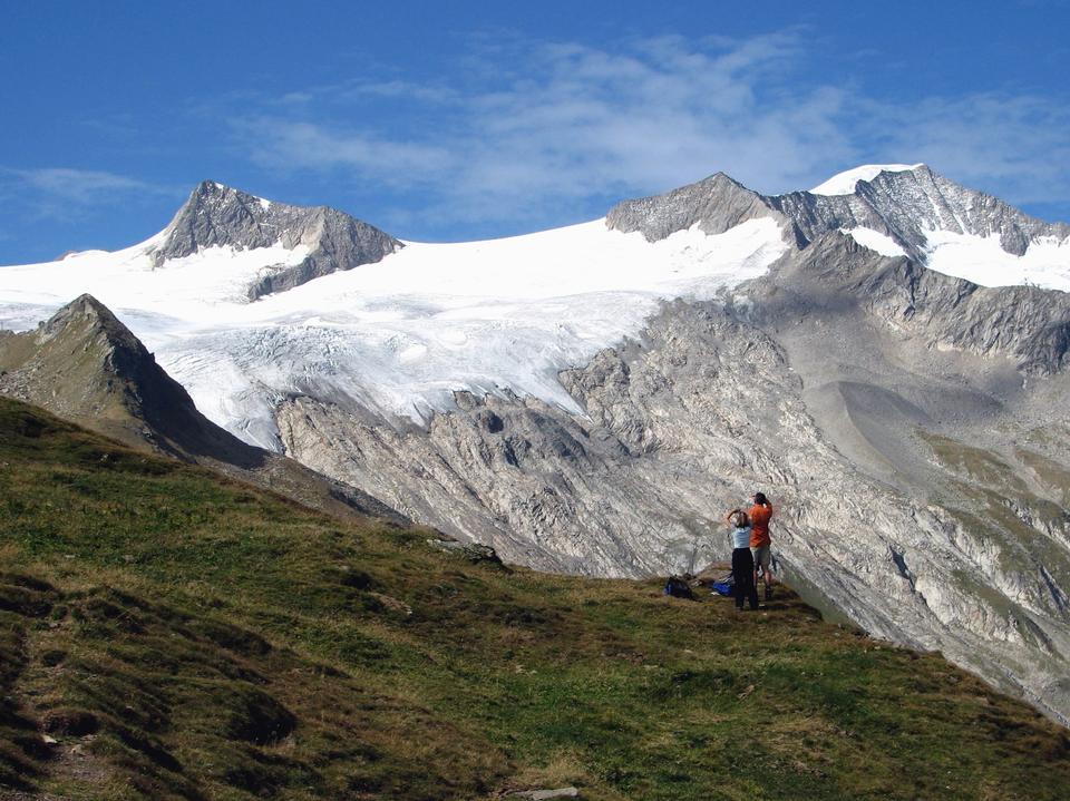woman hiker hiking on mountain