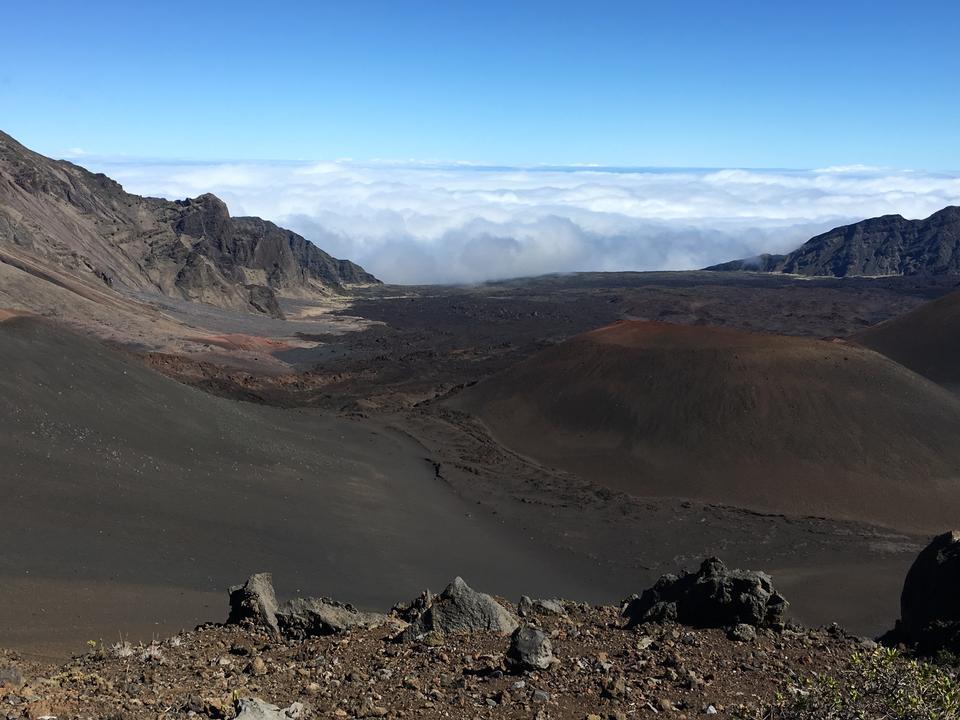 ハレアカラ国立公園、マウイ、ハワイのトレイル