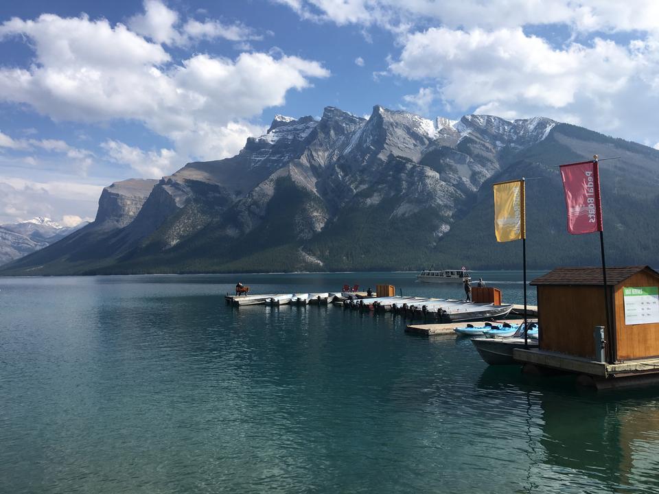 Spirit Island en Maligne Lake, Jasper, Canadá