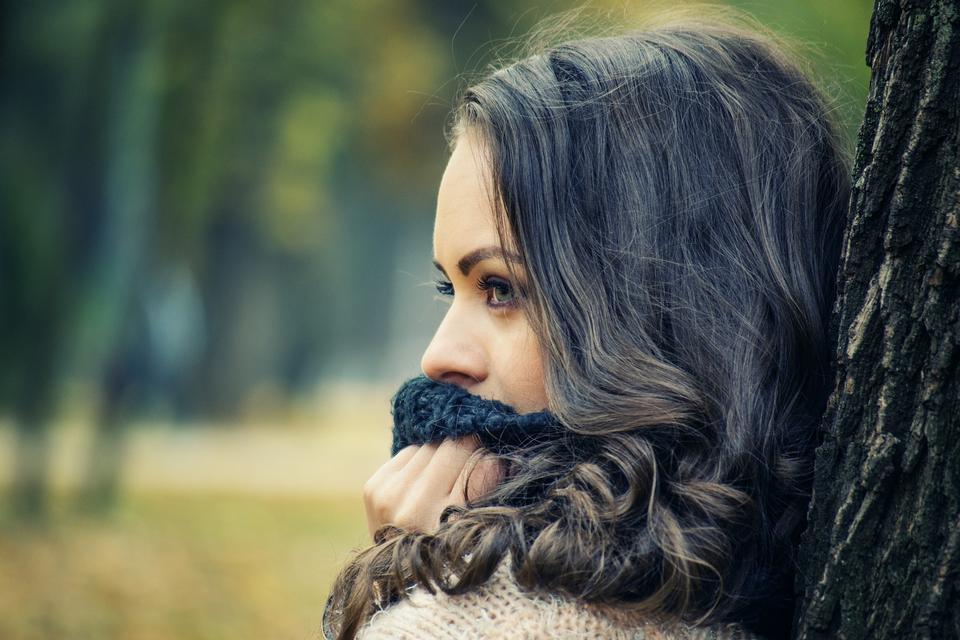 Beautiful tender woman