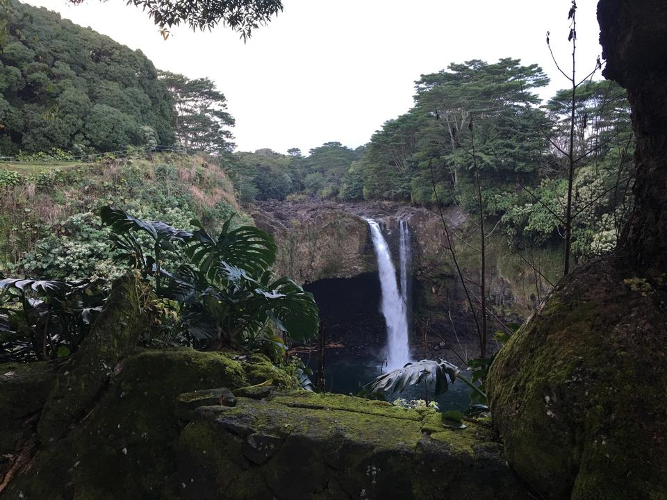 Hawaii, Rainbow Falls in Hilo. Wailuku River State Park
