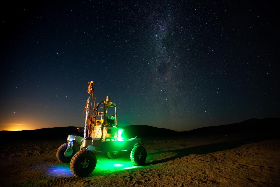 Rover Under the Milky Way