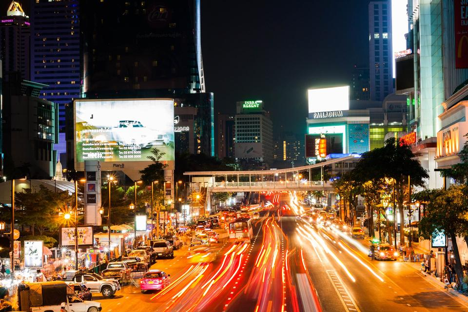 Circulation urbaine de nuit