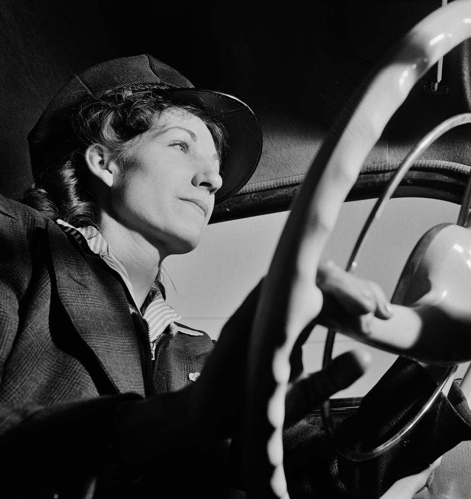 Portrait of a woman training to operate buses