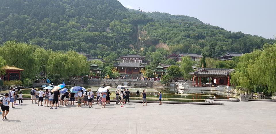 The palace ground of Huaqing Palace in Xian, China