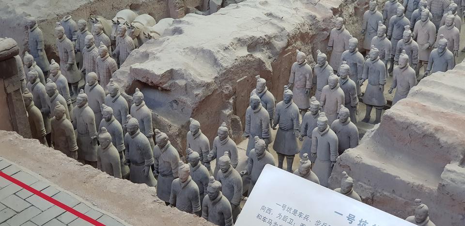 赤土陶器军队坟墓在西安,中国