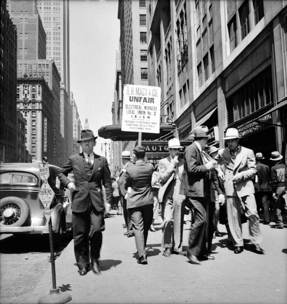 New York City street scene June 1936