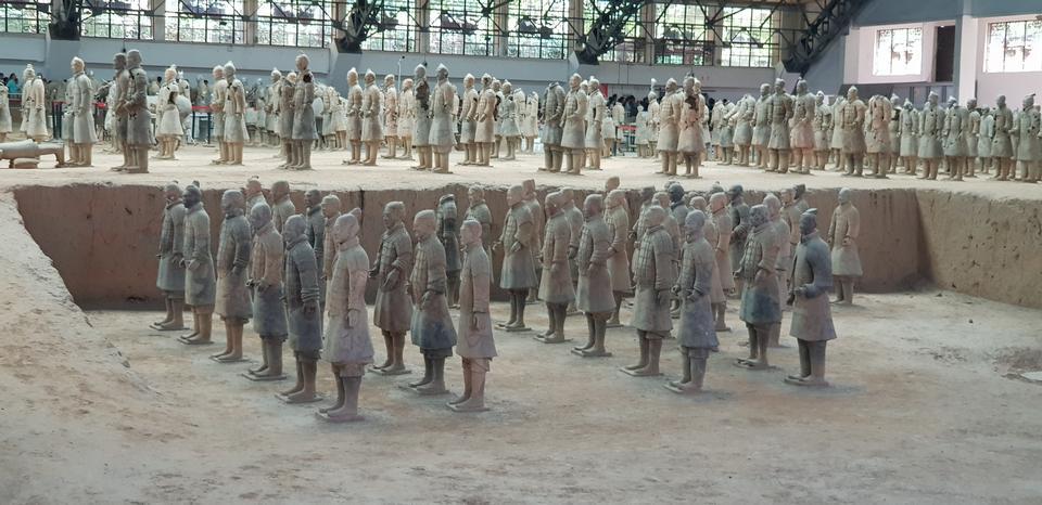 兵馬俑在秦始皇陵墓博物館