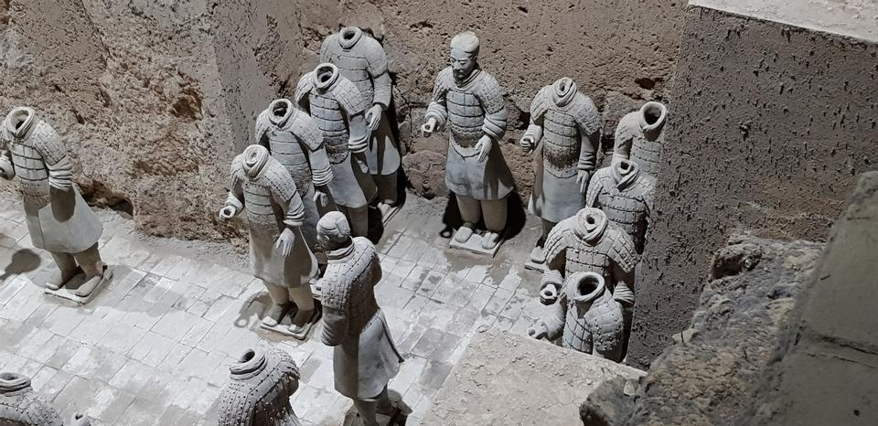 The Terracotta Army in the museum of Qin Shi Huangs tomb