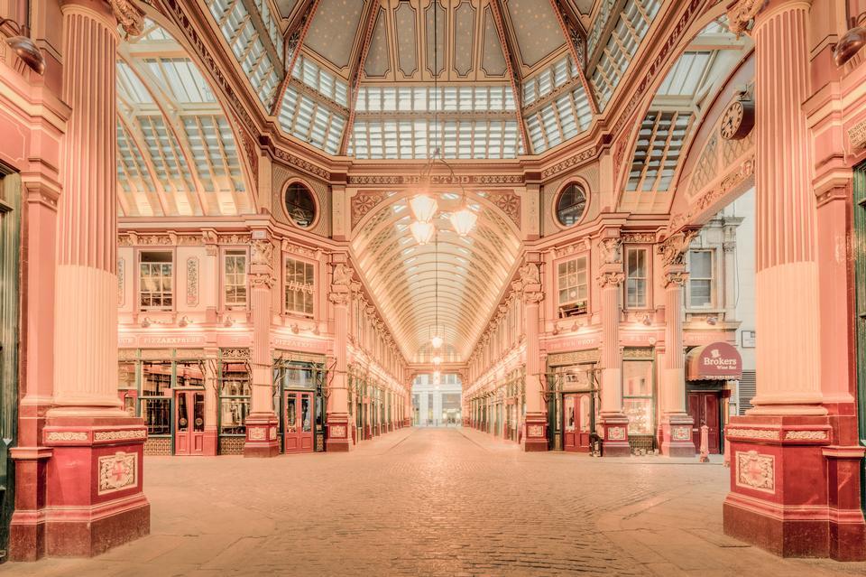 Leadenhall Market  in London, England, UK.