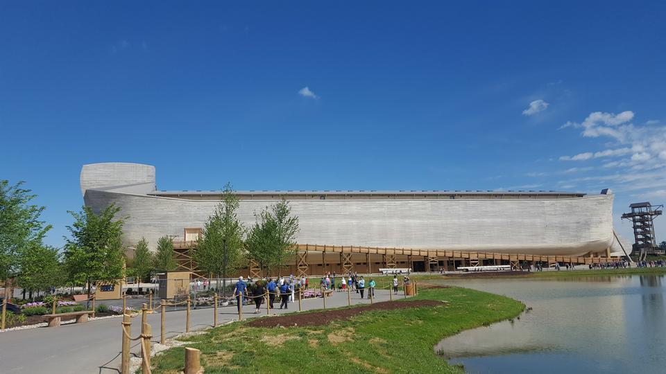 Exterior of Noah ark replica at the Ark Encounter Theme Park