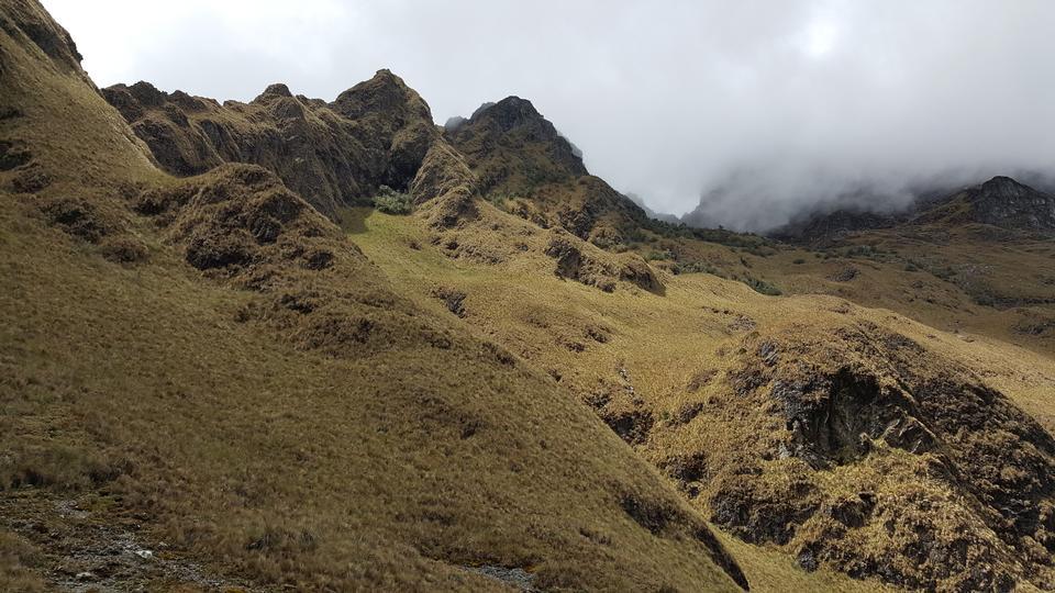 印加人足迹的狂放的风景,秘鲁