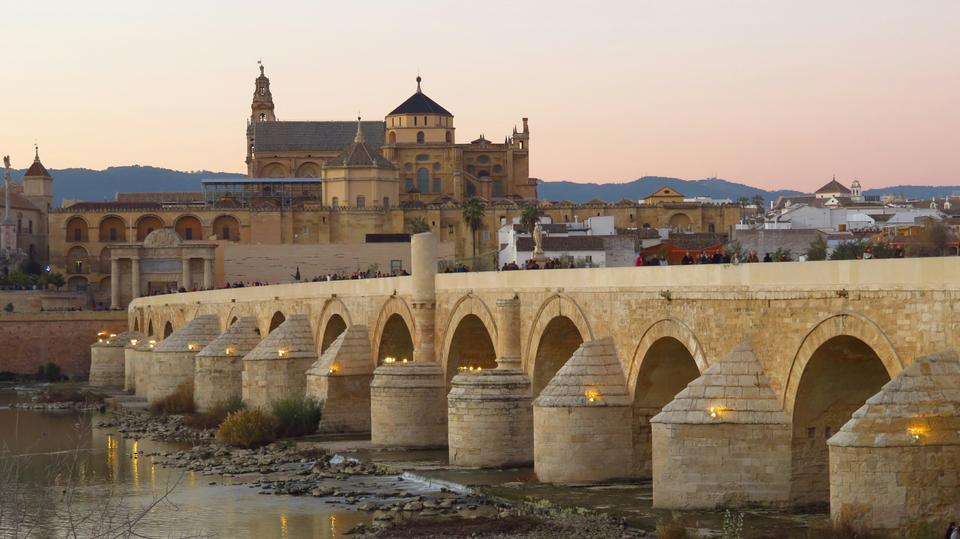 Cordoba, Spain view of the Roman Bridg