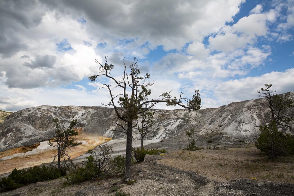 向天空外緣,黃石國家公園的遠足徑