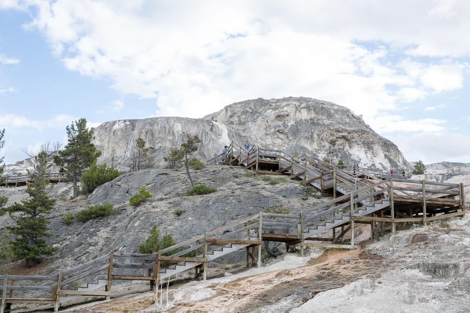 Hiking trail toward Sky Rim, Yellowstone National Park