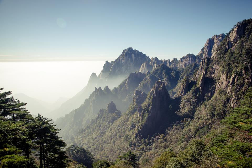 huangshan mountain Cloud Sea Scenery, East China`s Anhui Province