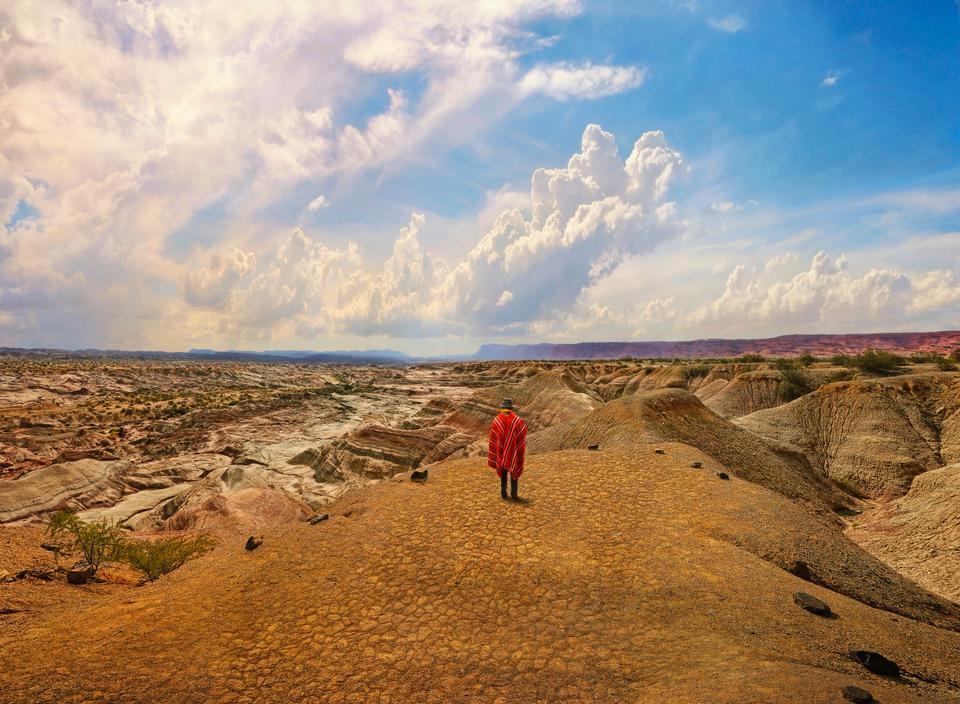Rock formations in Valle de la Luna near La Paz, Bolivia
