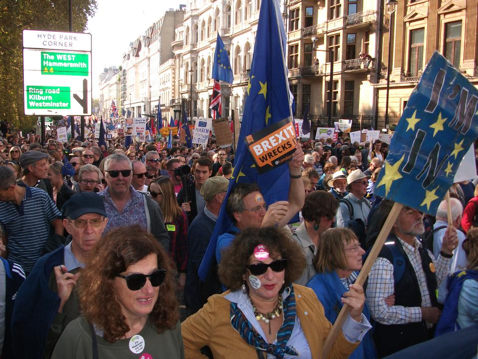 Anti-Brexit protest, London, UK
